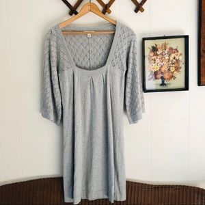 Wool Blend Bell Sleeve Sweater Dress